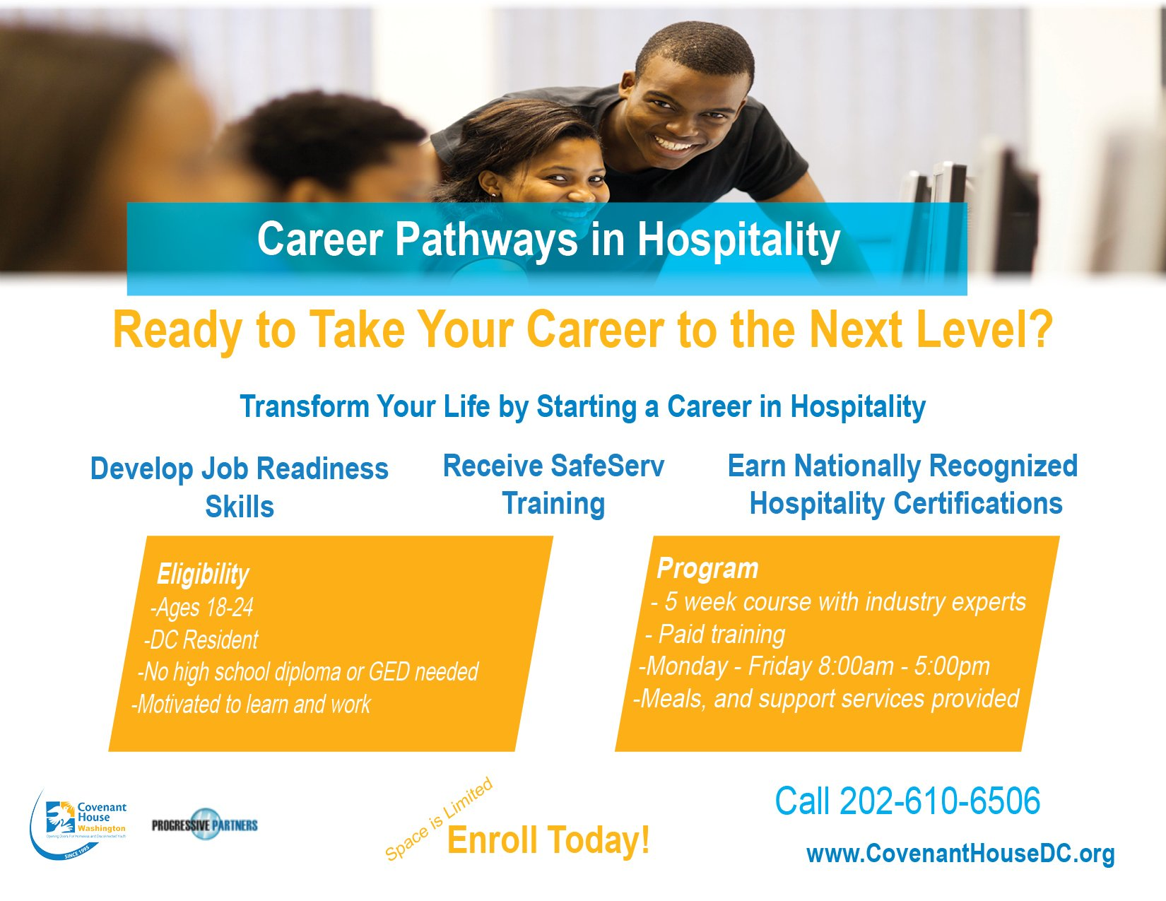 Covenant House Dc On Twitter Looking To Start A Career Register