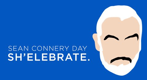Happy 87th birthday to Sir Sean Connery!