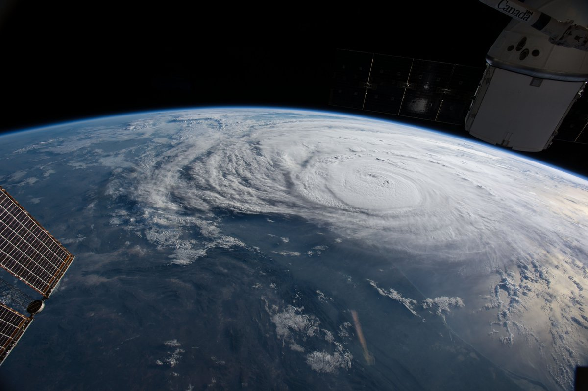 .@Astro2fish orbited over Hurricane #Harvey2017 and photographed the storm bearing down on the Texas coast.