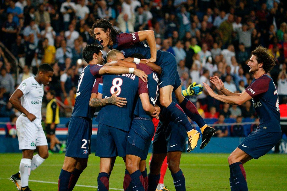 أهداف مباراة باريس سان جيرمان وسانت إيتيان