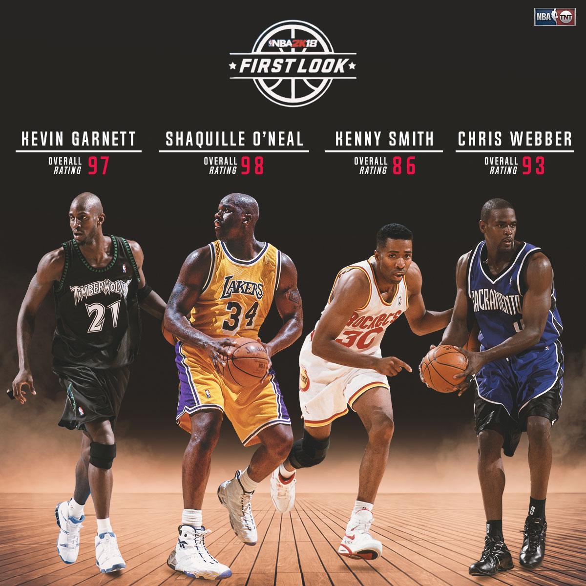 #NBA2K18 player ratings for some TNT ballers... ���� https://t.co/BVvYstJxRD