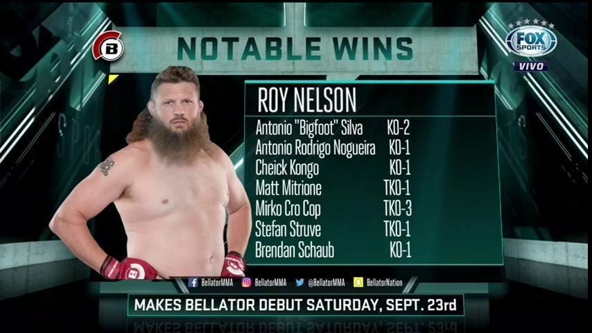 👊🥊 EM SETEMBRO ELE ESTREIA! Roy Nelson vai chegar com tudo no Bellator! #FOXFighClub