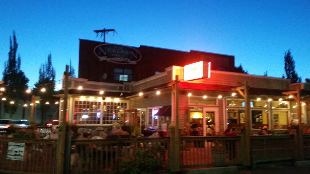 #SavorSummer on the patio at Nickerson Street Saloon, Seattle - Fremont...err..Northeast Queen Anne..Boundary Bay IPA on draft ! <br>http://pic.twitter.com/bUMbWt7nOD &ndash; at Nickerson Street Saloon