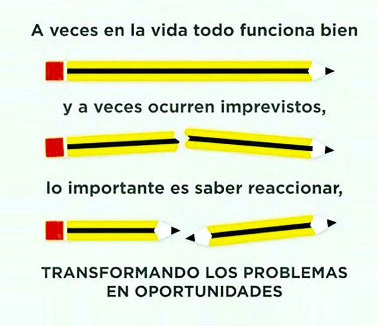 Transformar los problemas en oportunidades... https://t.co/gT8uWLlZT9