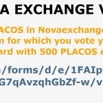 Image for the Tweet beginning: Vote PlayerCoin in Novaexchange and