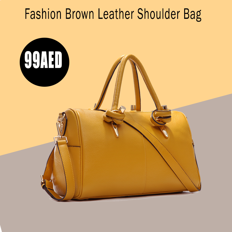 ba5fb0d0b480  Fashion  Brown  Leather  Shoulder  Bag  For  Women  Trendy  Elegant  Tote   Bag  European  Style  Ladies  HandBag http   buff.ly 2wxhr3p  pic.twitter.com  ...