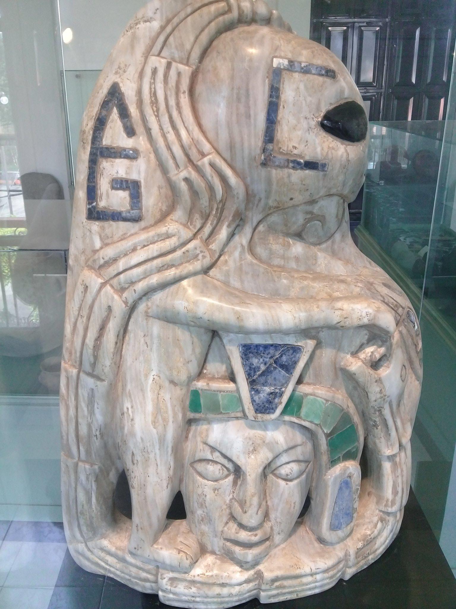 Una de las peculiares figuras del Museo de Xiutetelco