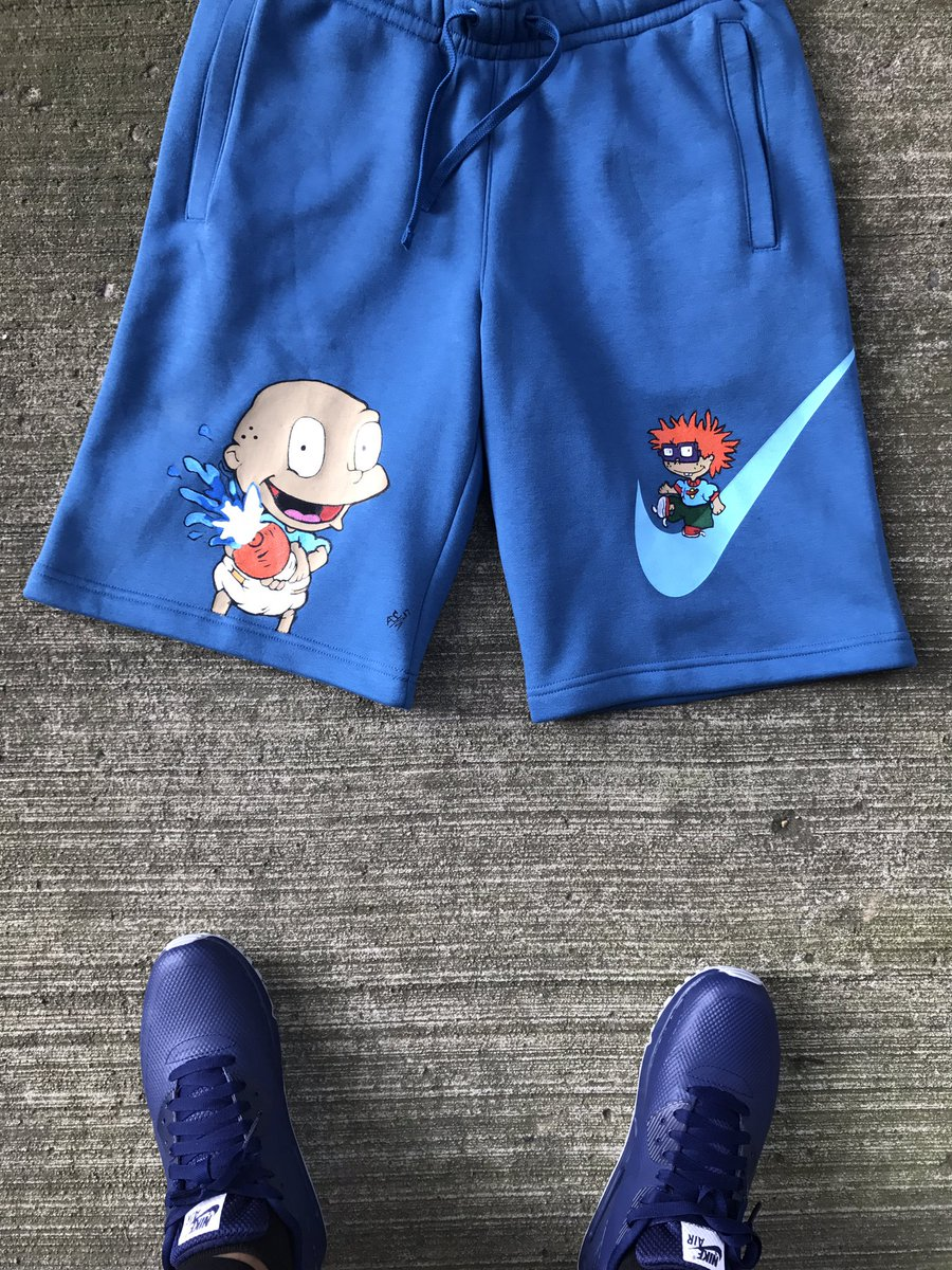 custom nike shorts with cartoon characters