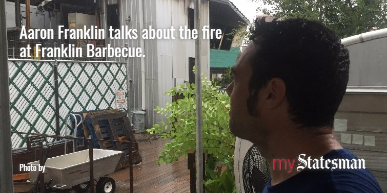 Aaron Franklin talks about the fire that destroyed much of the smokehouse @FranklinBbq. https://t.co/KVBeEY0qGm https://t.co/xxHzKhoBO4