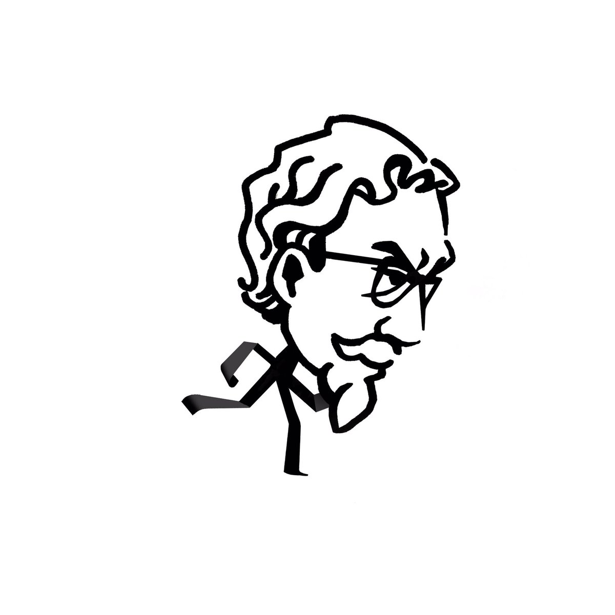 """Cirrus Stone on Twitter: """"In the old logo for KFC, as a kid I thought the  Colonel's Kentucky bow tie was his tiny stick-man body. #KFC #stickman  #drawing… https://t.co/ogK7HImxVh"""""""