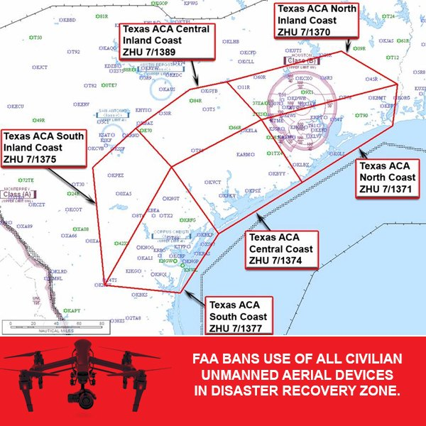 ALERT We Are Seeing Civilian Drones That Pose EXTREME Risks To Our Rescue Pilots And Crews In High Need Areas FAANews Harvey TMDHarveypictwitter