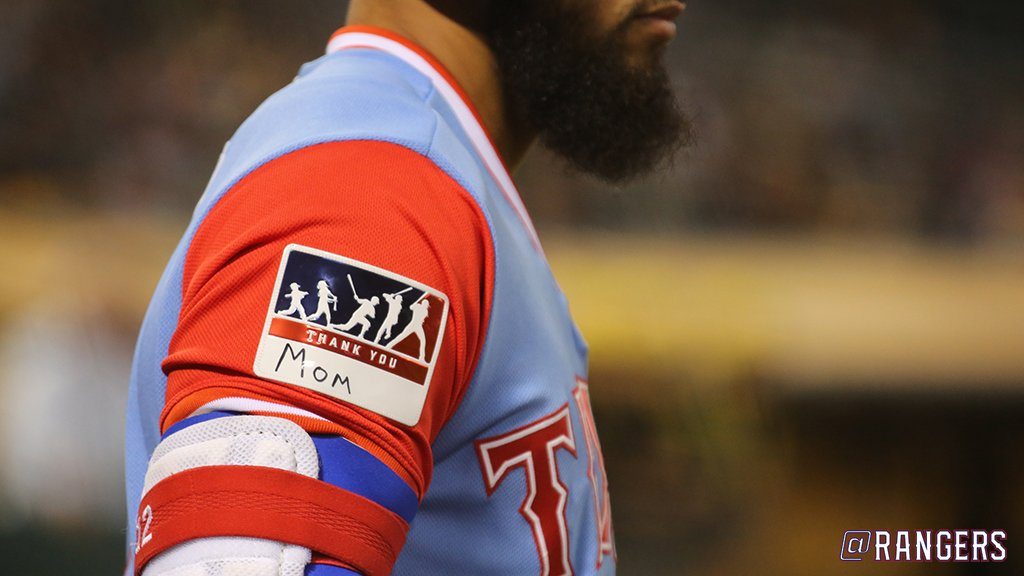 a28ea7036 How well do you know  PlayersWeekend  Can you match the Ranger by his patch  or cleats pic.twitter.com LhBVfCvGpX