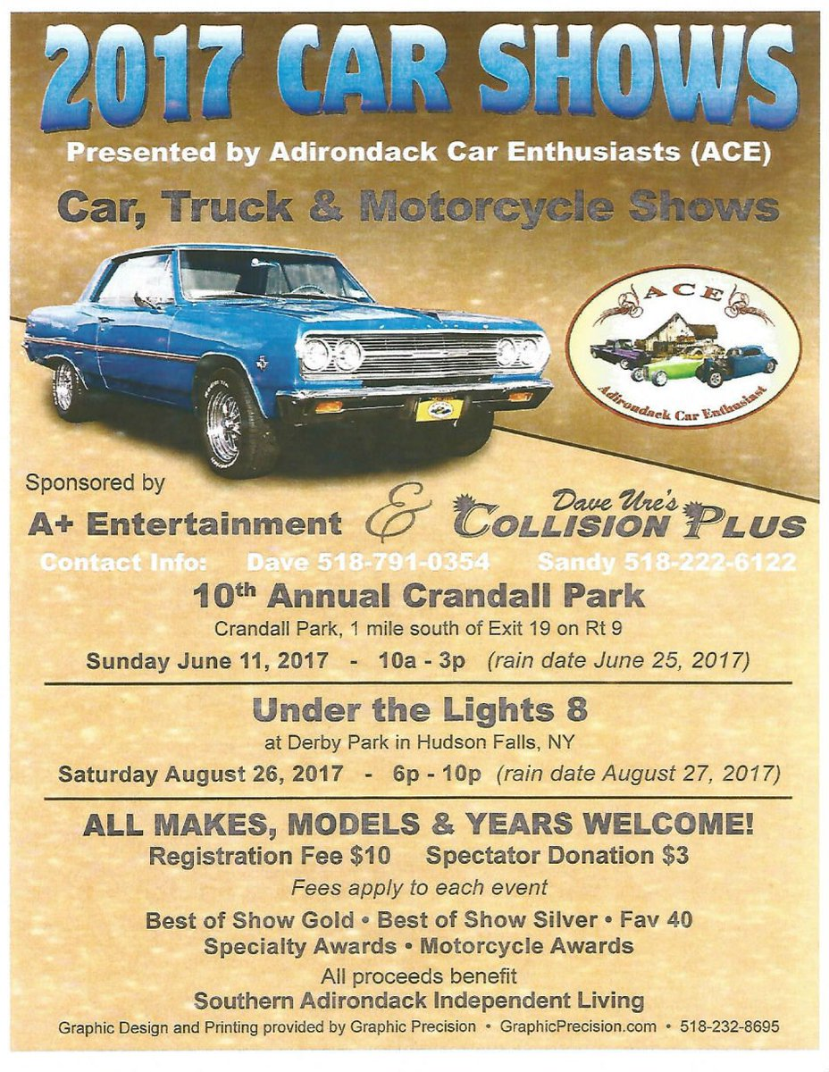 Hudson Falls Village On Twitter Stop By The Car Show Tonight Under - Car shows tonight