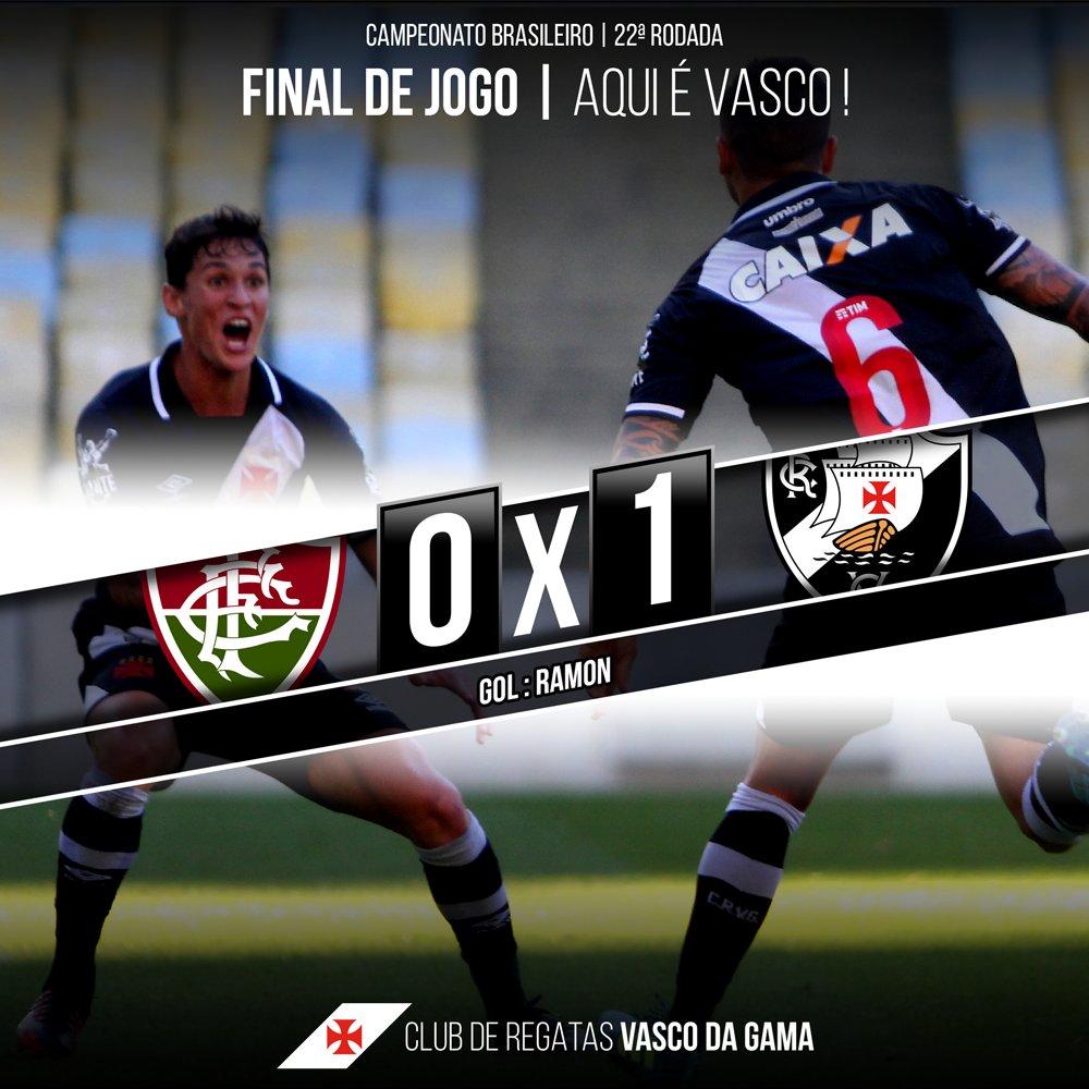 SUA IMENSA TORCIDA É BEM FELIZ! Com gol do lateral Ramon, Gigante da Colina bate o Fluminense no clássico do Maracanã! #EstamosJuntosVasco