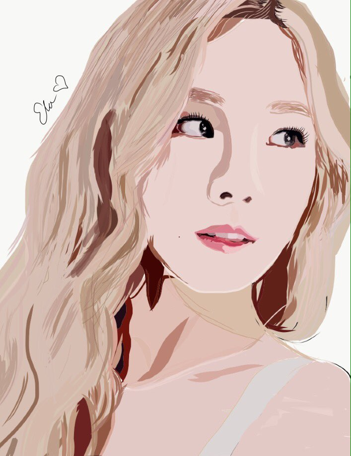 It&#39;s been a while since I made one. Here is Kim Taeyeon, the shy Kim Taeyeon. #fanart #taeyeon #snsdfanart <br>http://pic.twitter.com/O1Rri58dpc