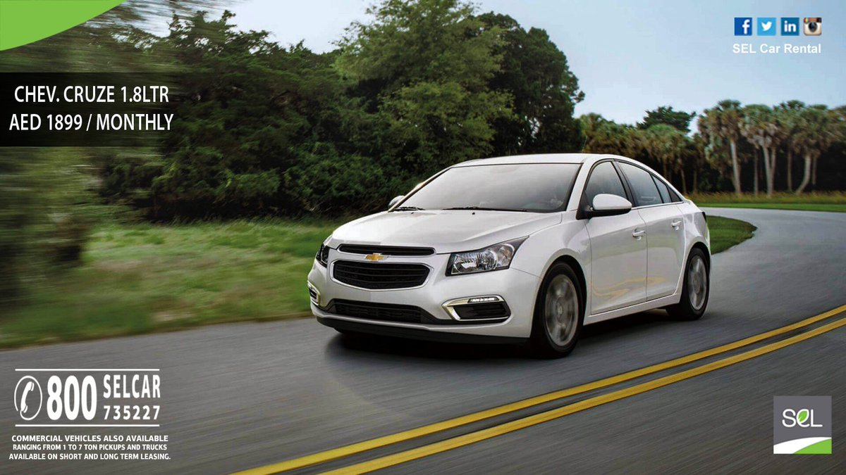 Sel Car Al On Twitter Deal Of The Day Chevrolet Cruze 1 8ltr Aed 1899 Monthly Call Now 800 Selcar 735227 T C Ly