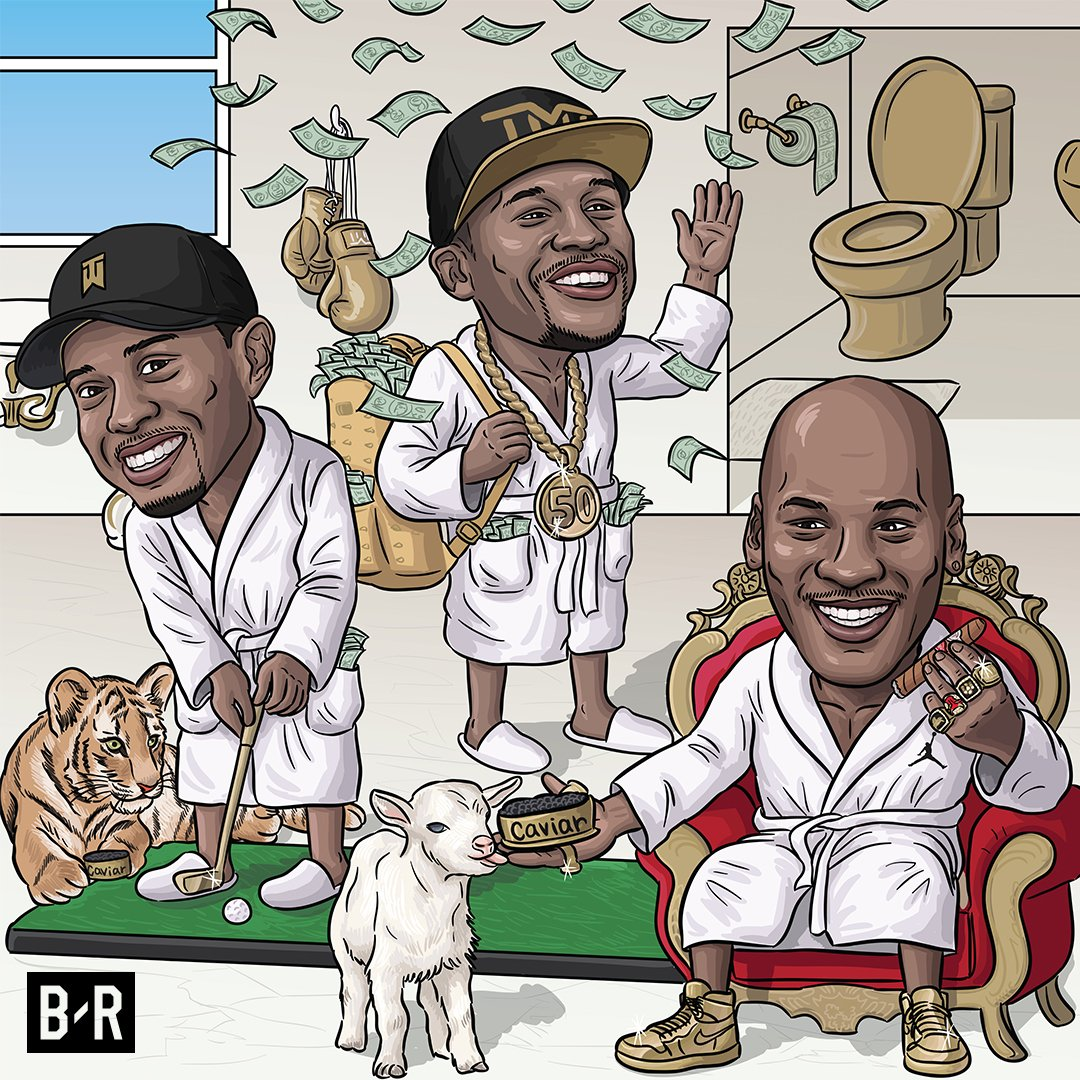 Mayweather Promotions CEO says Floyd will now join MJ and Tiger as the only athletes with over $1B in career earnings.