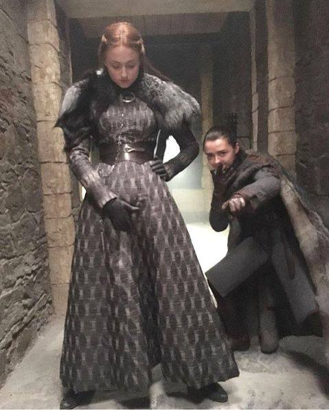 Sansa and Arya are bout to drop the hottest mixtape of wintafell. #Straightouttawinterfell #GameOfThrones #GOT7 #GameofThrones7 https://t.co/FEswO6Ymv9