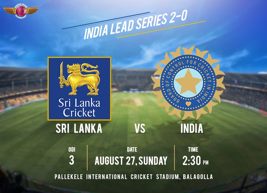 #TeamIndia 🇮🇳 take on Sri Lanka in the 3rd ODI with a confidence boosting 2-0 lead! Will we witness a clean sweep today? #SLvIND