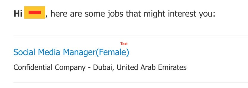 For a job in dubai