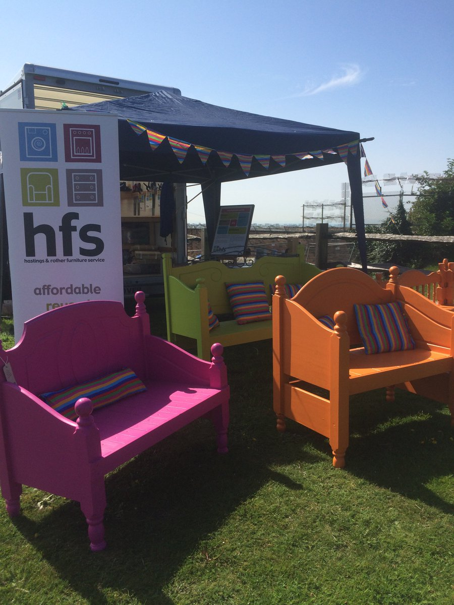 All Set Up And Ready To Go...the Hfs Team Is At Hastings Pride Today. Come  And Say Hello   And Try Out Our Bed Head Benches For Size!pic.twitter.com/  ...