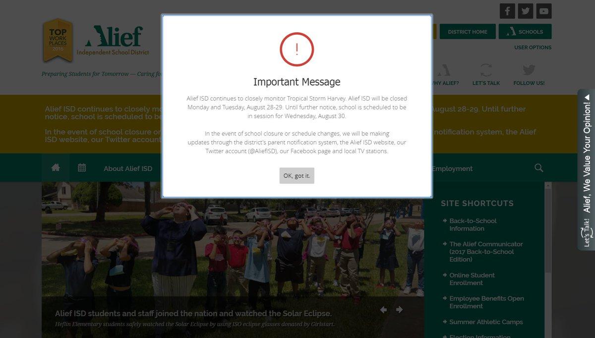 Alief website