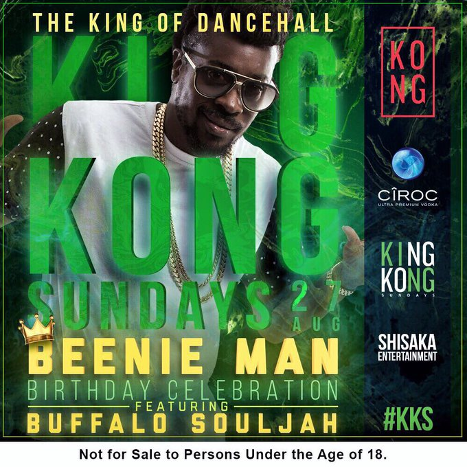 Happy bday Beenie Man We\re going all the way tonight!