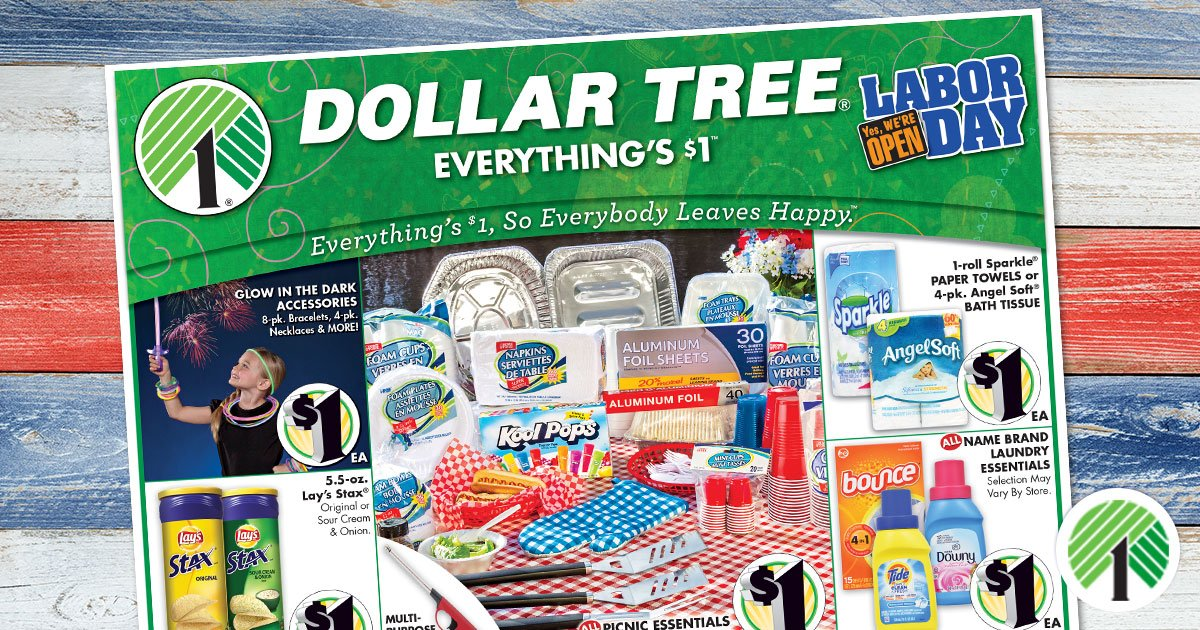 Is dollar tree open on labor day
