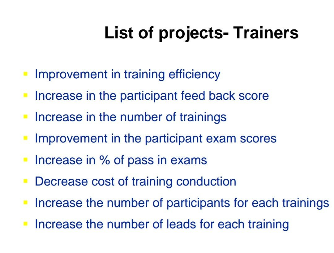 The Trainers Camp On Twitter Areas Where A Certified Trainer Can