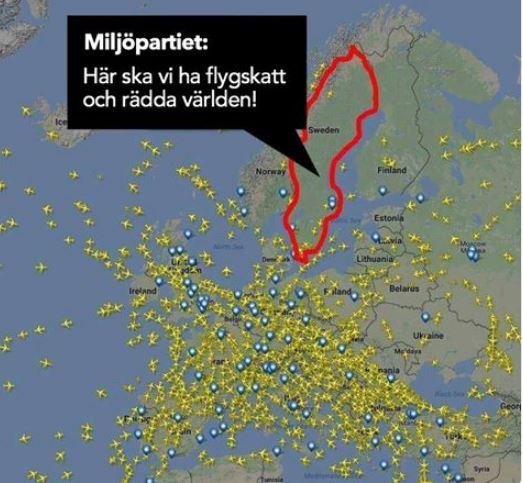Miljopartiet ror inte var flygtrafik