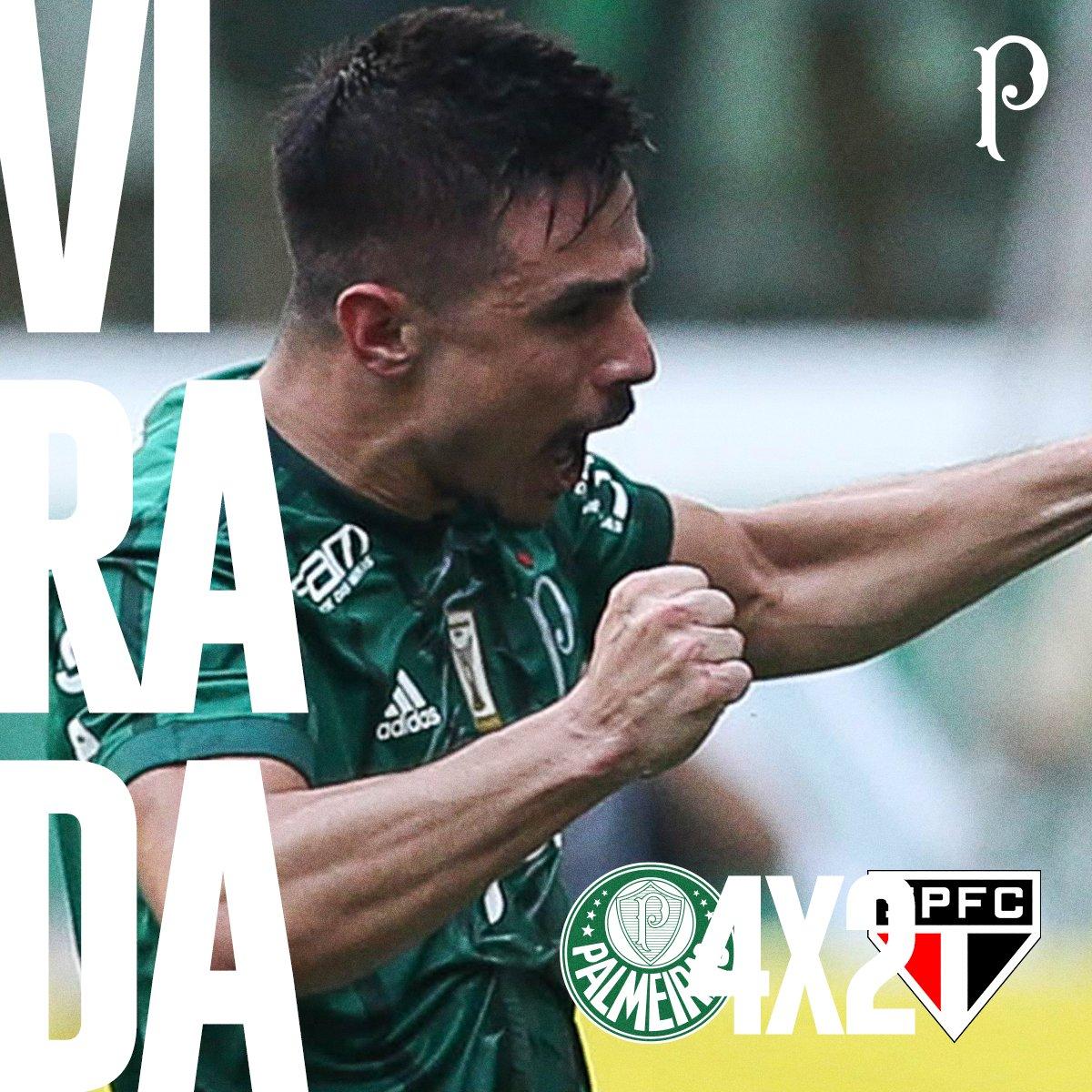 'O Palmeiras é o time da Virada' 🎶 #AvantiPalestra #PALxSÃO