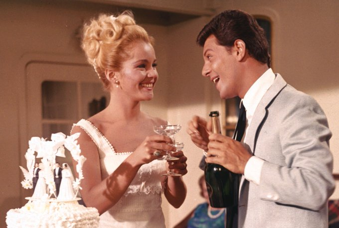 Happy birthday to Tuesday Weld!  Here with fellow 60s teen idol Frankie Avalon in I\ll Take Sweden (1965)