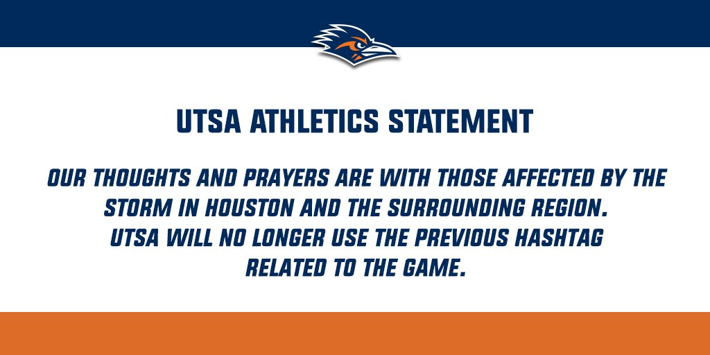 Statement from UTSA Athletics regarding the ongoing developments in Houston.