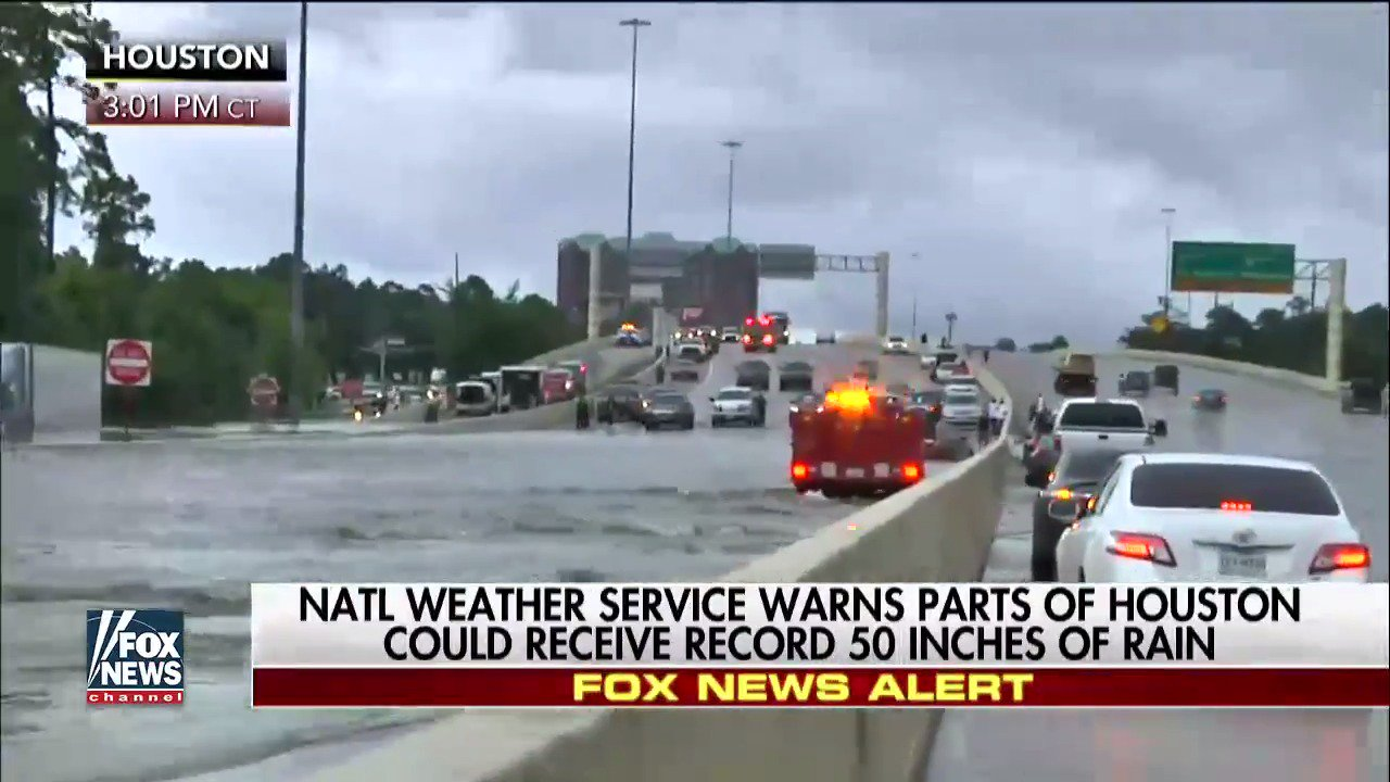 .@NWS warns parts of Houston could receive record 50 inches of rain. #TropicalStormHarvey.  https://t.co/HNZ33A2OgD https://t.co/XtDiCVlA3n