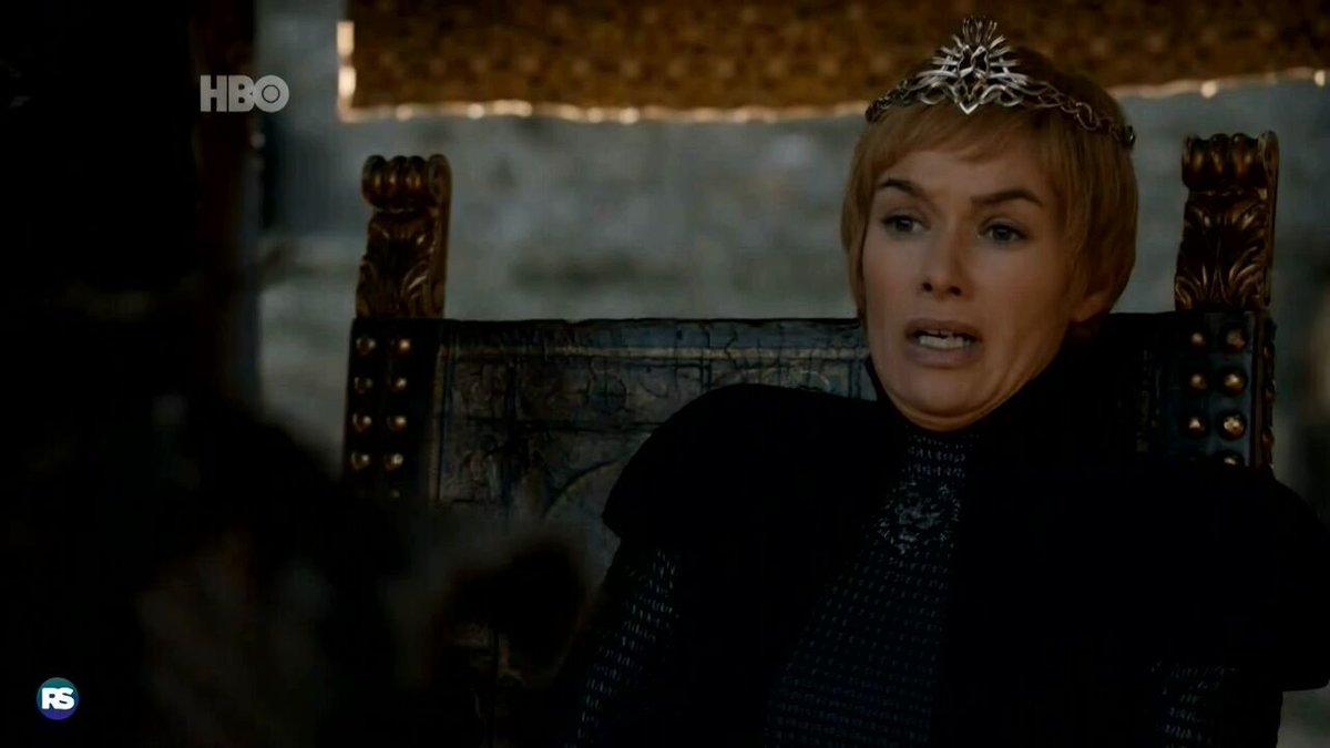 Vivemos para ver o dia em que a Cersei se cagou de medo #GoTS7