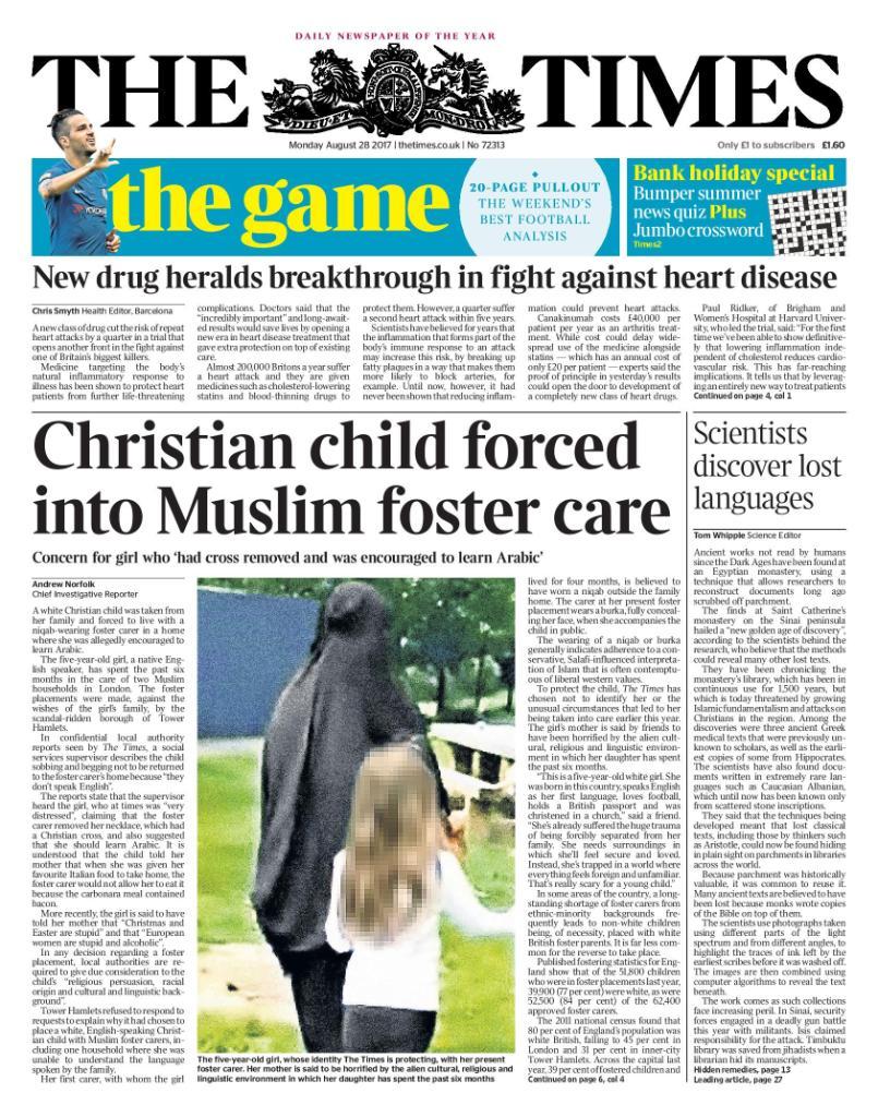 ¿Está correcto que una niña Cristiana sea forzada a vivir con padres de crianza musulmanes? DIRDZ5zXUAAwYFC