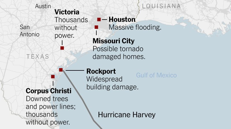 Harvey's destructive path through Texas has led to massive flooding, power outages and damaged buildings: https://t.co/0eFyv3RIby https://t.co/DLGy5DaiYD