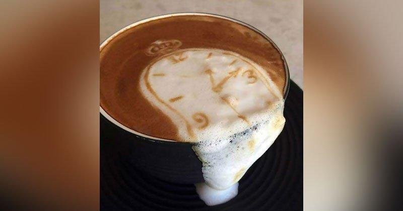 Salvador Dali latte art by https://t.co/J26Zn0hK4C https://t.co/xY9I2h3DRm