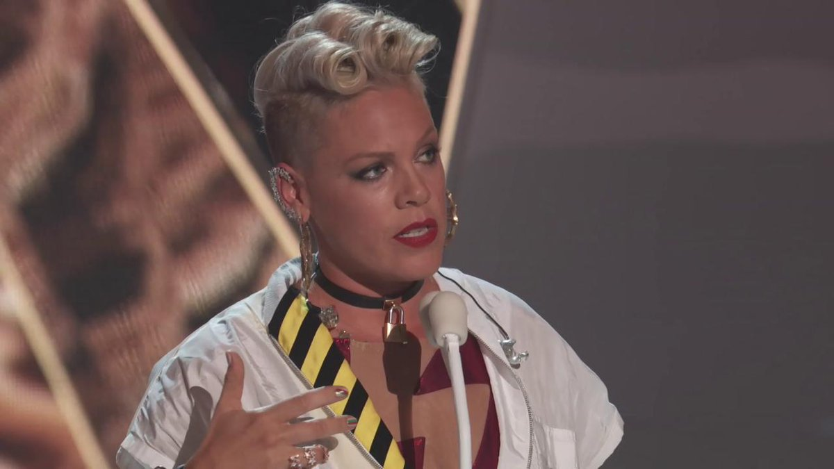 Everyone needs to hear @Pink's Video Vanguard acceptance speech. This is a true icon. #VMAs https://t.co/swugt7sE0H
