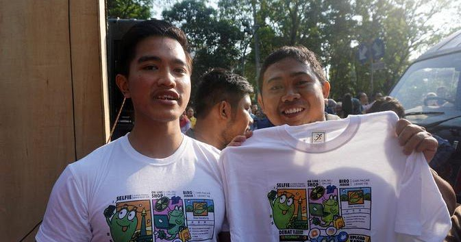 "Putra Bungsu Jokowi Jualan Kaos Bermerek ""Kolektor Kecebong"""