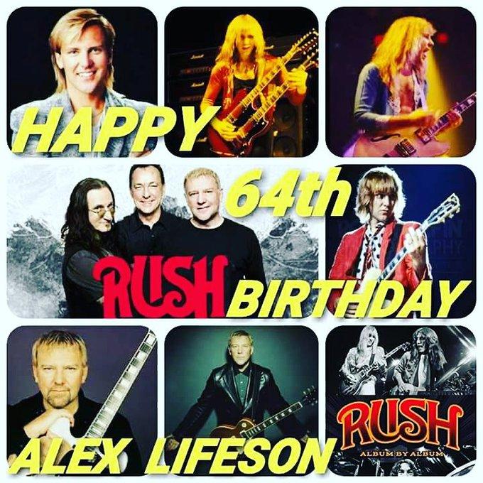 Happy 64th Birthday Alex Lifeson