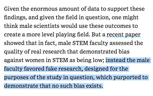 The Wired piece on gender bias in science was already good, but this paragraph is the gem. https://t.co/ae5rOuRpJD https://t.co/4aRoqeXnrW