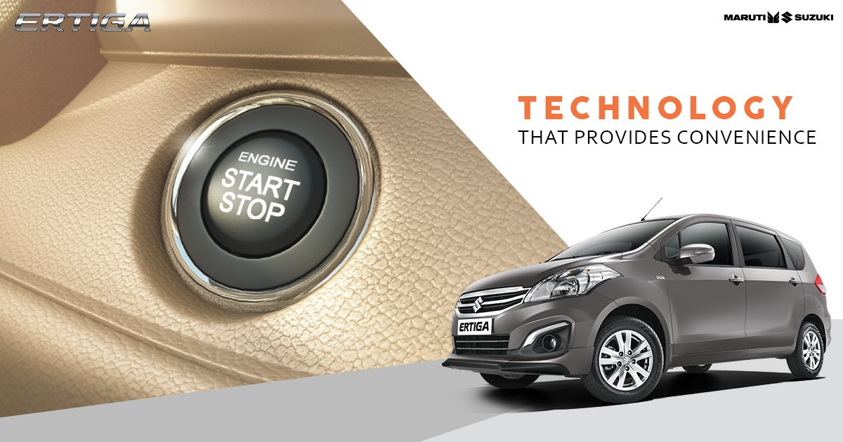 Maruti Suzuki Ertiga comes with Push Start-Stop. Now you can drive around with ease without worrying about keys. #TogetherWithErtiga https://t.co/BIWzCKBG02