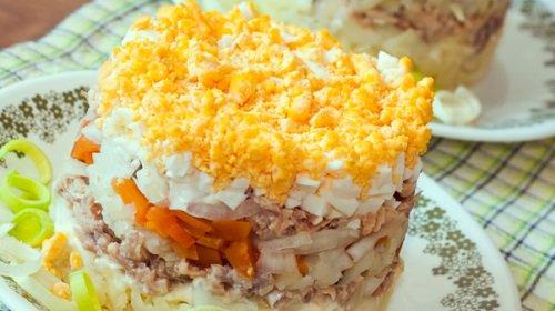 Рецепт салата кальмары с креветками