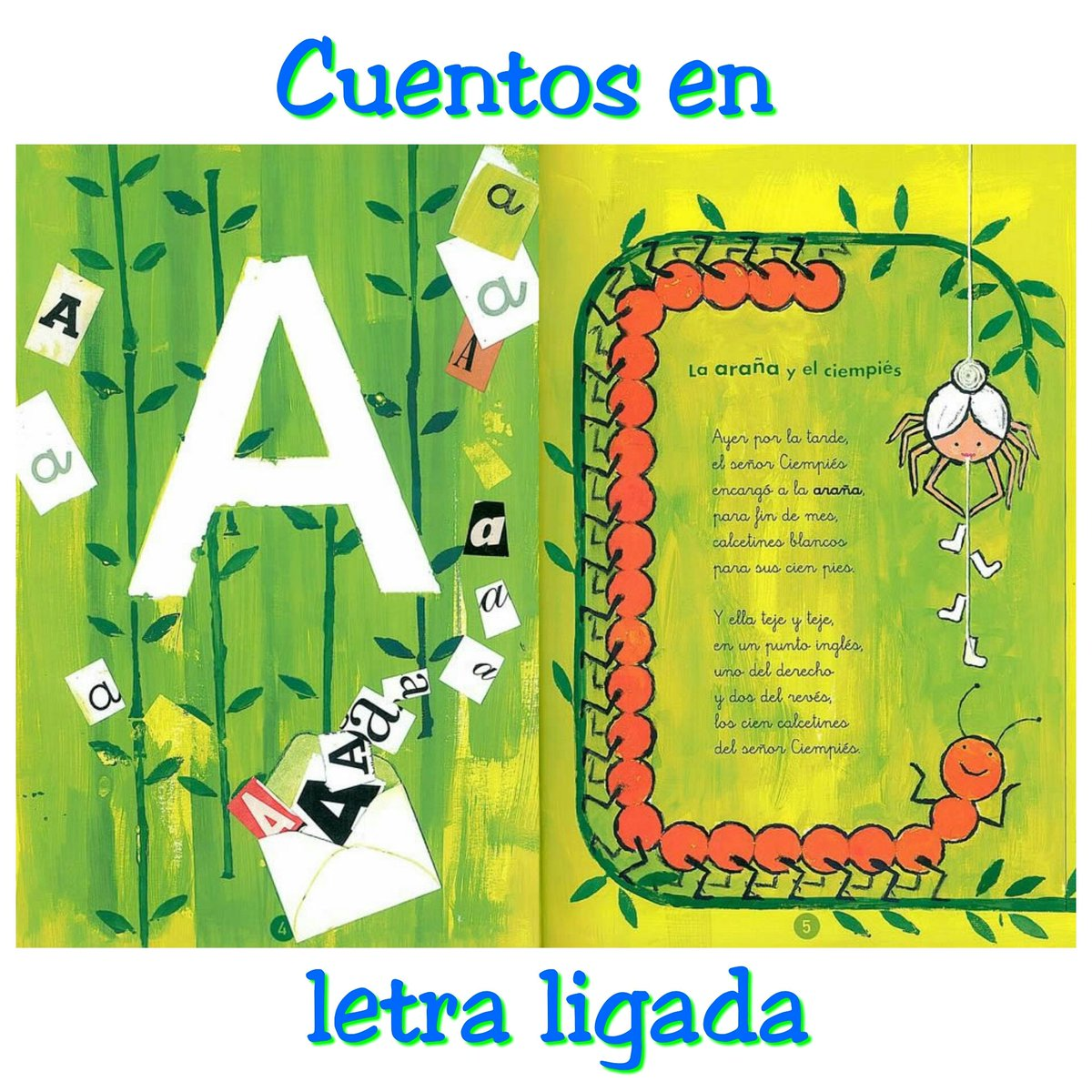 libros infantiles letra ligada