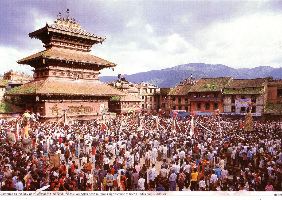 #GaiJatra: one of the significant festivals celebrated in #Nepal with much zeal n this is in the city of #Bhaktapur!! #festivaltour<br>http://pic.twitter.com/A9XGFnsq6M