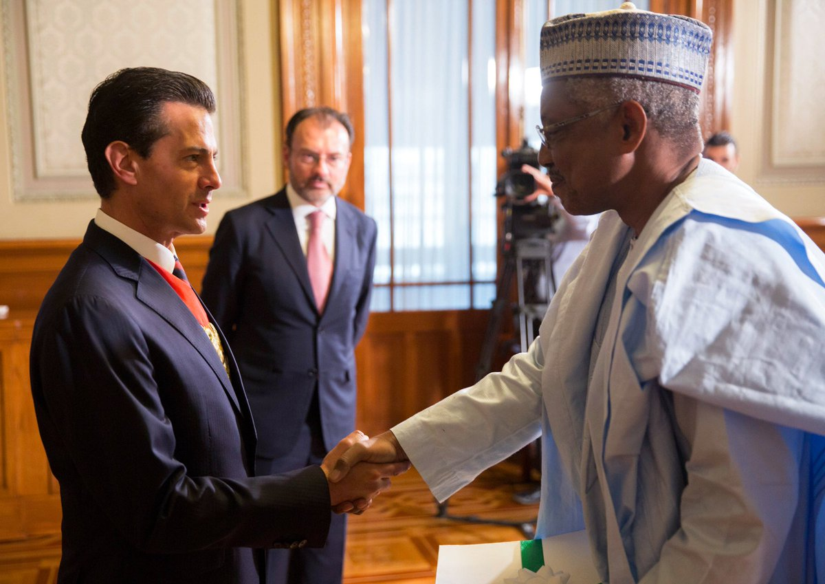 Embamex Nigeria On Twitter The President Of Mexico Epn Receives