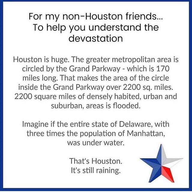Trying to wrap your head around this disaster? Read this #harvey #harveyhoustonh#khou11o#houstonfloodsu#houstonfloods2017ston   2017