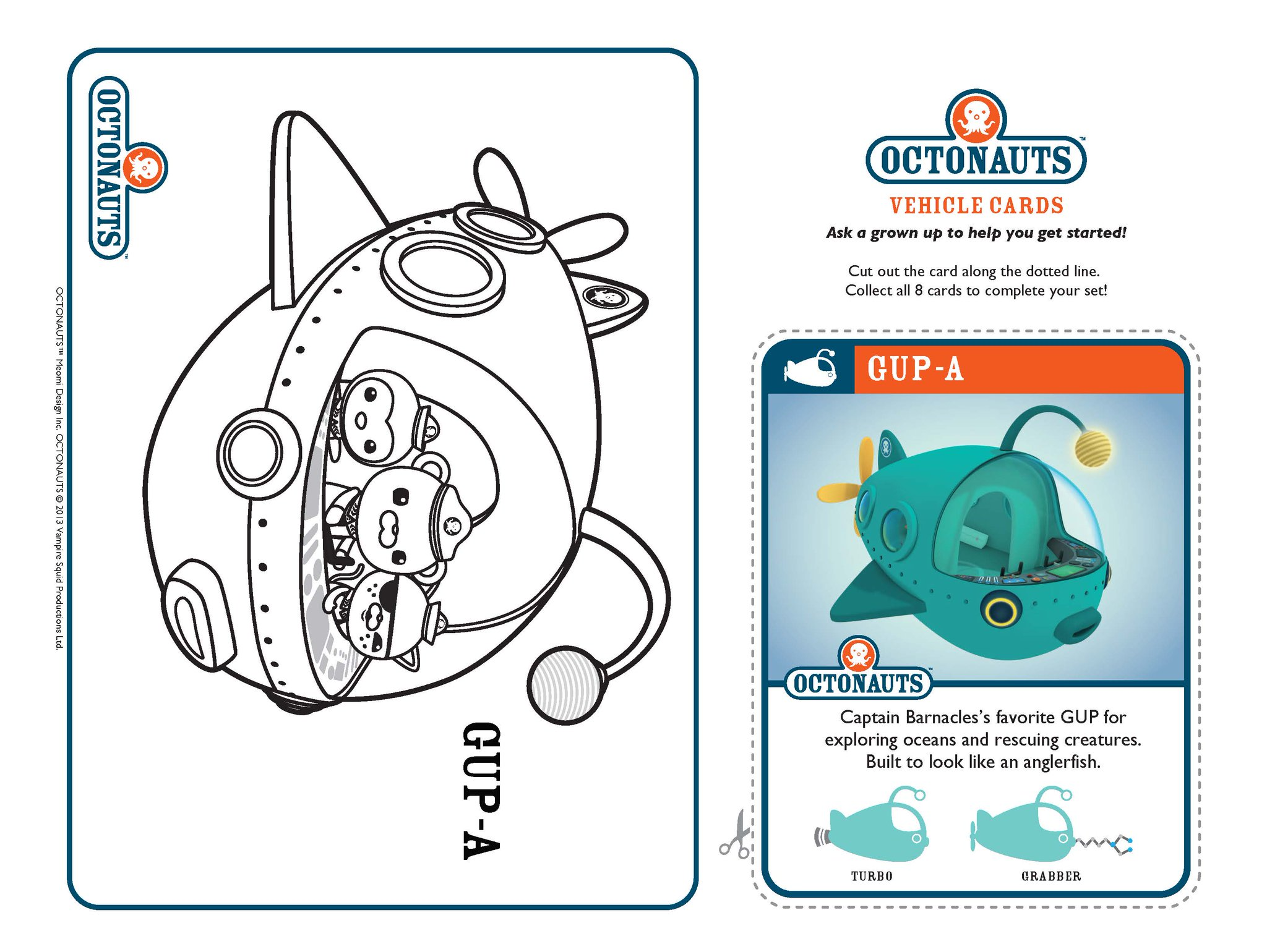 octonauts gup x coloring pages - photo#24
