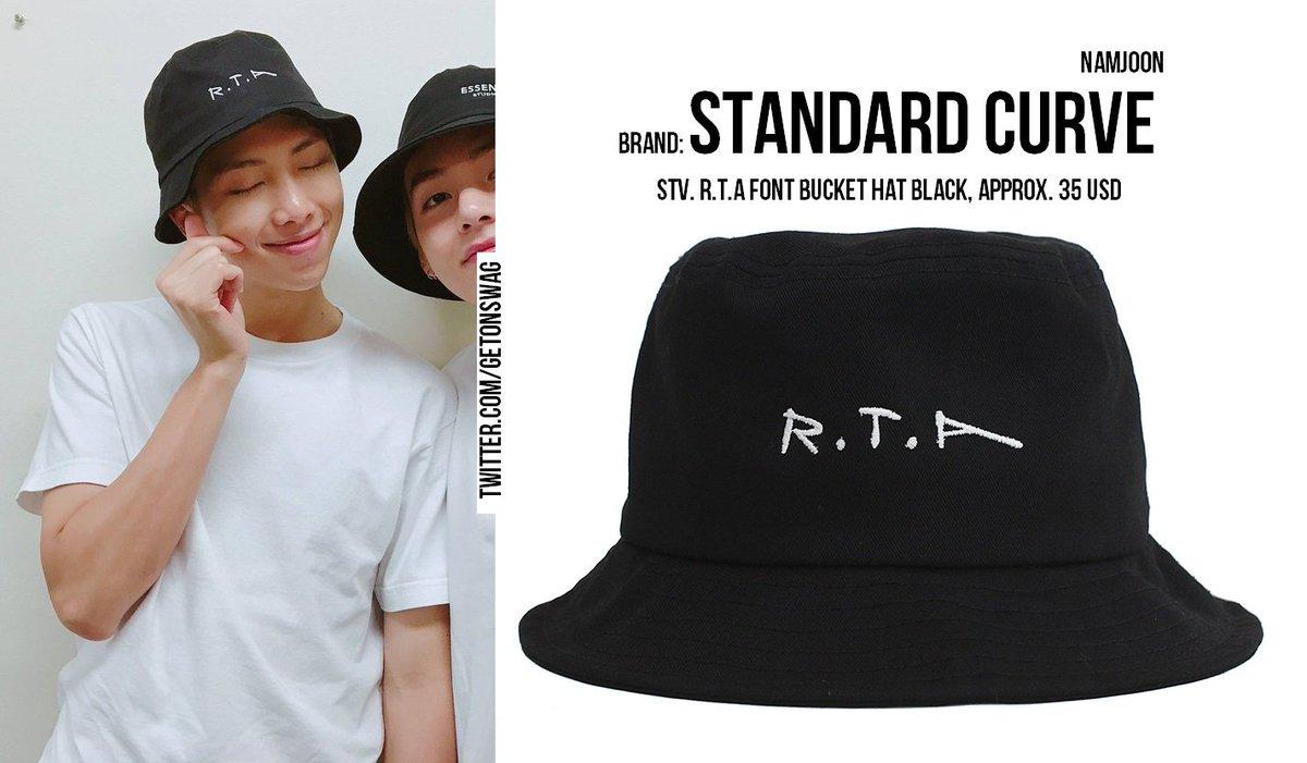 Beyond The Style Alex On Twitter Namjoon Bts 170828 Weibo Update Rapmonster Rm 방탄소년단 Standatd Curve Stv R T A Font Bucket Hat Black